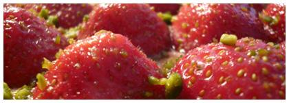 tarte fraises détail